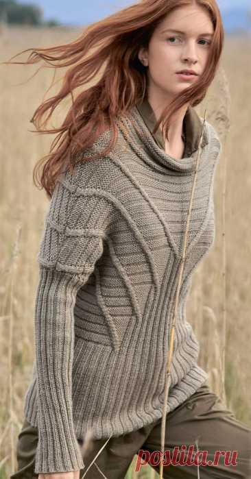 Пуловер с расходящимися полосами - Lilia Vignan
