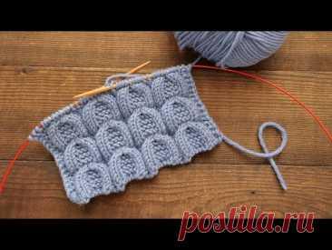 Узор «Подкова» спицами 🐴 «Horseshoe» knitting pattern 🧲