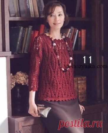 Элегантный пуловер крючком