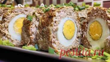 Мясной рулет с яичной начинкой: способ приготовления в пекарской бумаге на сухой сковороде | Рекомендательная система Пульс Mail.ru