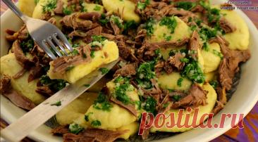 Прошу жену почаще готовить эти украинские галушки с мясом (делимся рецептом +видео) | Семейный канал Тищенко | Яндекс Дзен