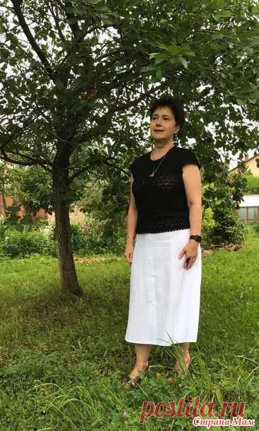 La blusa por el gancho - Todo en azhure... (La labor de punto por el gancho) - el País de las Mamás