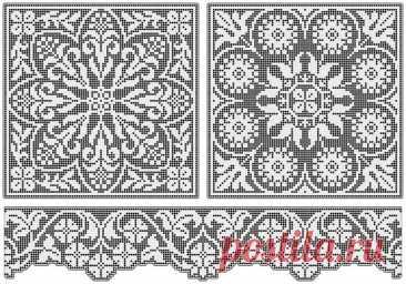 Схемы для филейного вязания