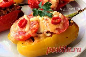 Фаршированные перцы в духовке половинками: ПП рецепт пошагово