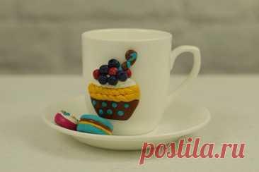 Декор чайного набора полимерной глиной. МК | Декор. Работы пользователей МК ВИДЕО:https://youtu.be/rl8QdcWKU9w