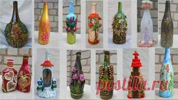 13 идей удивительного декора бутылок. Декор своими руками