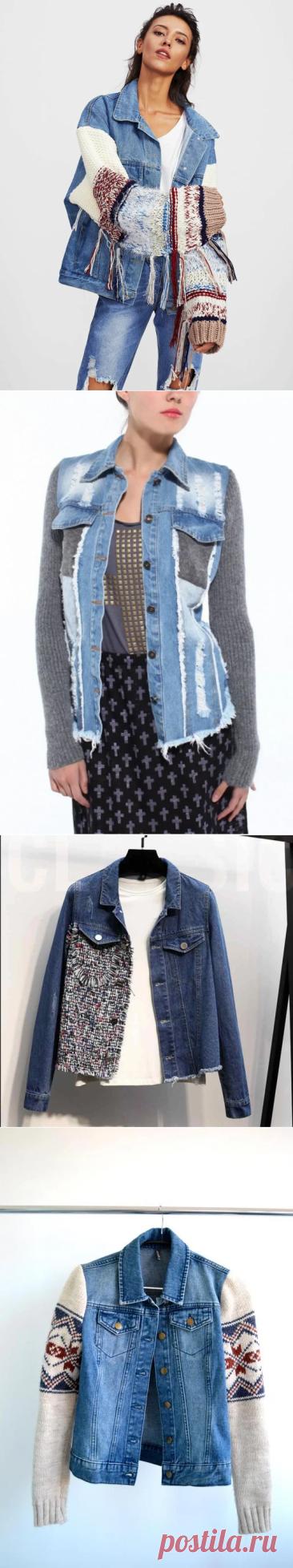 """""""Переделки"""": Из обыкновенной джинсовой куртки сделала стильную   Ваша Наташа   Яндекс Дзен"""