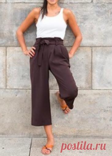 Выкройка Женских брюк кюлоты, размеры 34-46 европейские Скачать выкройку бесплатно Выкройка Женских брюк кюлоты, размеры 34-46 европейские