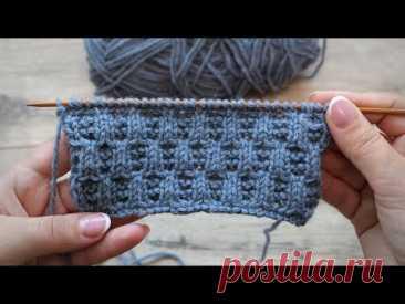 Рельефный узор для мужских изделий спицами 🙅♂ Men's Knitting Pattern