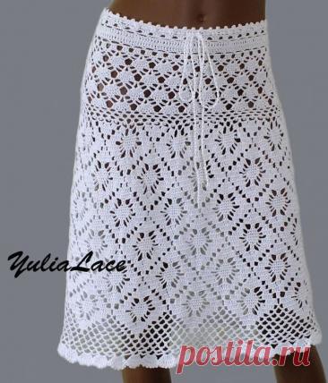 La falda chiné por el gancho