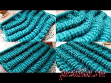 Оригинальный способ связать узор Клоке 🌺 knitting pattern. - YouTube