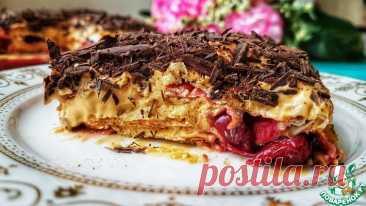 Торт без выпечки Вишнёвое блаженство Кулинарный рецепт