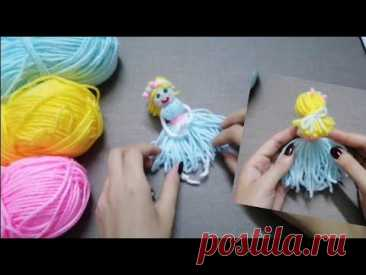 The Cutest Doll 🧶👰Easy Making Diy&Самая милая кукла, которую легко сделать своими руками