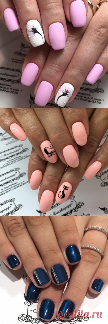 Идеи дизайна маникюра на короткие ногти - много фото! Красивый, модный, яркий маникюр | Салон красоты «Маникюрофф»