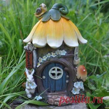 Leibowitz Floral Cottage with Lights Fairy Garden Lynton Garden