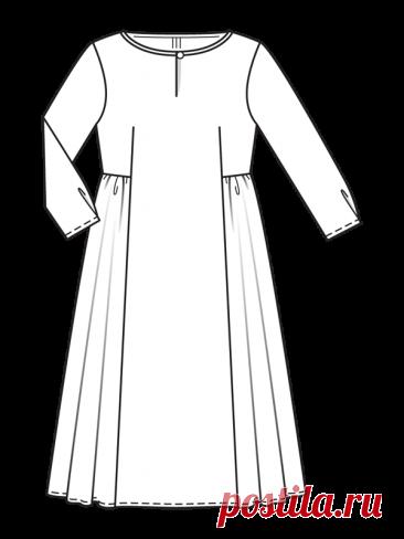 Льняное платье миди - выкройка № 119 из журнала 7/2021 Burda – выкройки платьев на Burdastyle.ru