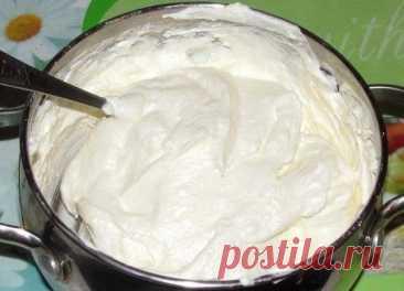 Как приготовить простой творожный густой крем для торта - рецепт, ингридиенты и фотографии