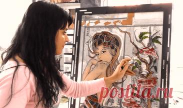 Самые популярные техники росписи по стеклу витражными красками | ART LIFE Виктории Латка