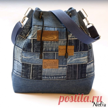 Изящные лоскутные сумочки. Вторая жизнь джинсовой ткани.