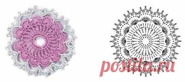 Схемы вязания цветочков крючком