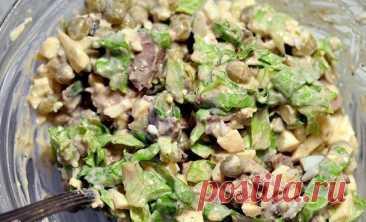 Восхитительный салат из куриной печени – достойно украсит праздничный стол!