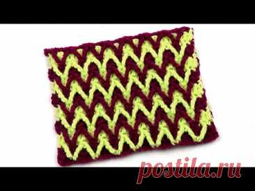 Двухцветный узор Зигзаги Two tone Zigzag Pattern