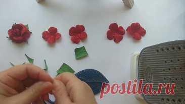 Посмотрите как Быстро и Красиво можно Сделать Розы из Глиттерного Фоамирана
