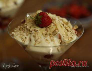 Клубнично-малиновый десерт