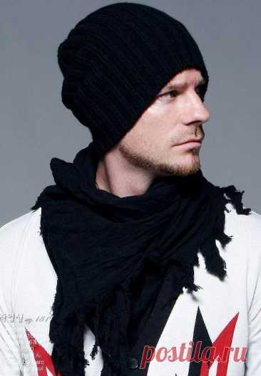 Вязаная мужская шапка (Вязание спицами) — Журнал Вдохновение Рукодельницы