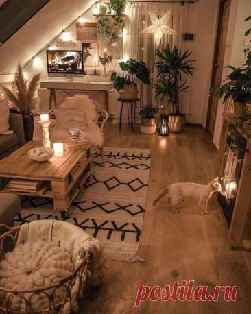 Уютное мансардное помещение