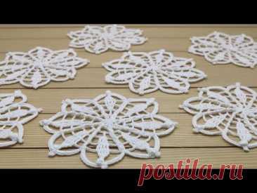 Ажурный МОТИВ вязание крючком мастер-класс  Crochet flower motif patterns tutorial