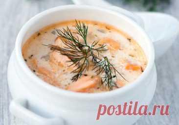 Финский сливочный суп с лососем