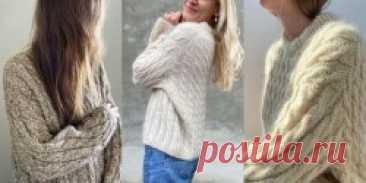 Пуловер оверсайз спицами Sweater No. 15 - Вяжи.ру