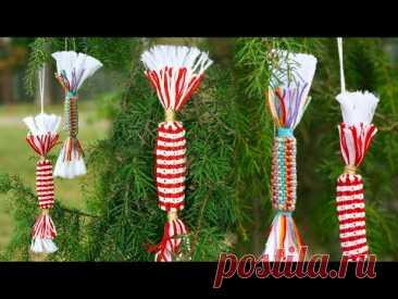 2 Easy Macrame Candy Ornaments DIY 🍬