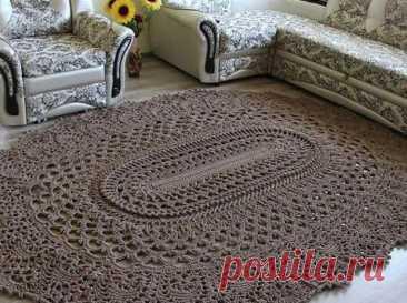 Большой вязаный крючком коврик... Очень оригинально и красиво! Вязаные коврики— звучит удивительно, ноизделия получаются весьма забавными ипривлекательными. Так, например, самостоятельное...
