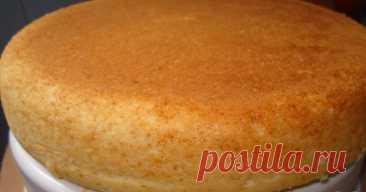 Потрясающий бисквит на горячем молоке