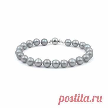 8.900 р-Ожерелье из натурального жемчуга цвета металлик
