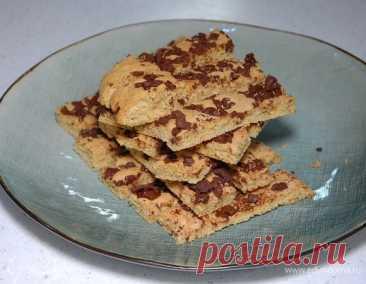 Песочное печенье с горьким шоколадом, пошаговый рецепт на 3492 ккал, фото, ингредиенты - Юлия Высоцкая