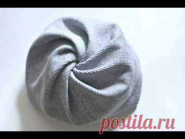 Как быстро сшить оригинальную шапку на весну/осень для девочки