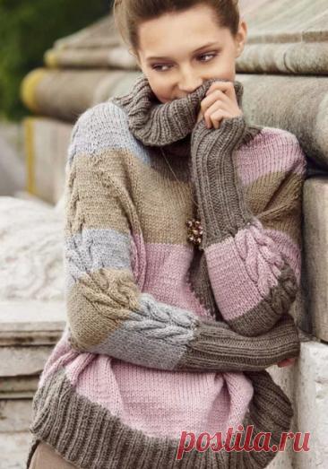 Вязаный свитер из остатков пряжи🧶. Моя подборка 20 полосатиков🔴🟣⚪🟤 с бонусом. | Мама-универсал | Яндекс Дзен
