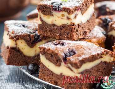 Брауни-чизкейк с ягодами – кулинарный рецепт