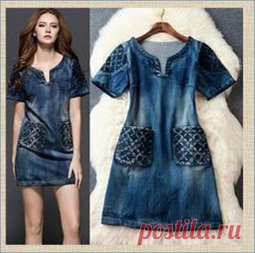 Моделируем и шьем джинсовое летнее платье - большая подборка с выкройками | МНЕ ИНТЕРЕСНО | Яндекс Дзен