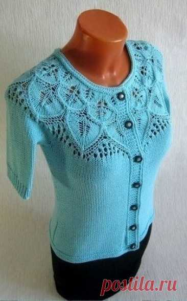 Turquoise jacket with the round coquette