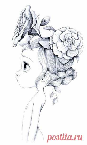 Картинки для срисовки карандашом - Рисование , Для девочек, для детей от 7 лет | HandCraftGuide