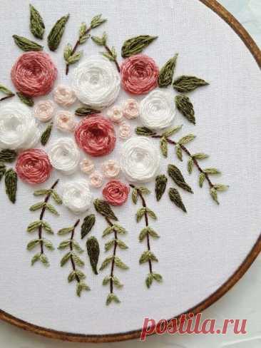 Вдохновляющие идеи объемной вышивки цветов — Сделай сам, идеи для творчества - DIY Ideas