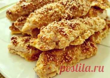 (6) Куриное филе в кунжуте - пошаговый рецепт с фото. Автор рецепта KishMish 🍇 . - Cookpad