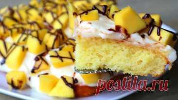 У вас есть 1 яйцо и немного фруктов? Готовьте сразу две порции этого вкуснейшего пирога! Рецепт – находка для занятой хозяйки!
