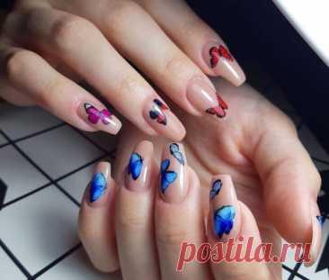 Маникюр с бабочками: красочные варианты нейл-арта для модниц