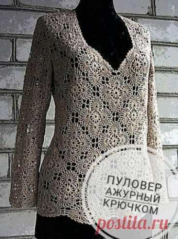 Ажурный пуловер, 19 актуальных моделей со схемами и описанием Ищешь схемы ажурных пуловеров крючком, мы собрали 19 моделей актуальных пуловер для женщин и девочек со схемами вязания и описанием. Есть также видео уроки