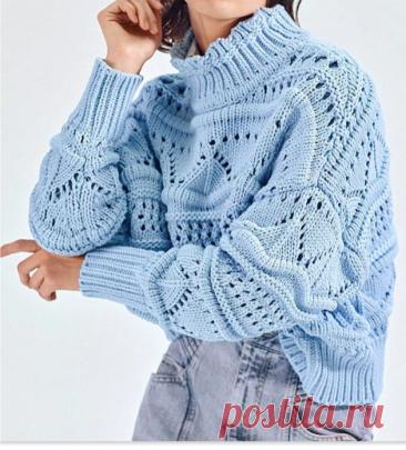 Модный свитер спицами с узорами от ИЗАБЕЛЬ МАРАН